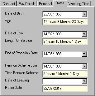 Retirement Date Example
